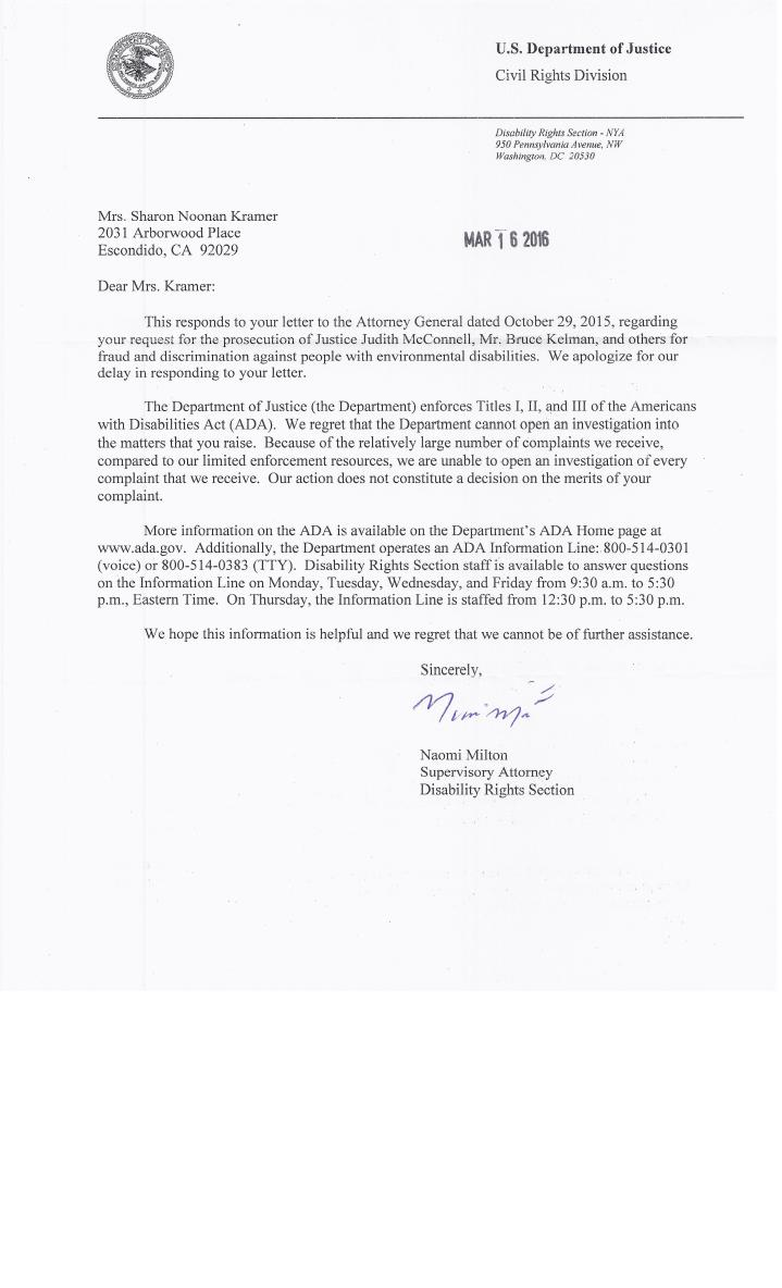 16.03.16 DOJ reply letter